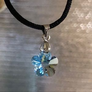 Jewelry - Genuine Swarovski Crystal Flower/sterling bail